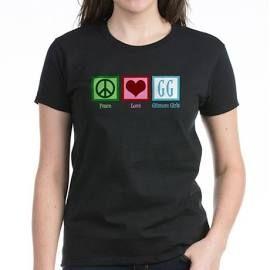 Peace Love Gilmore Girls Women's Dark T-Shirt