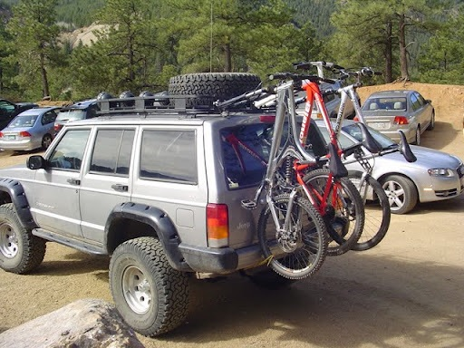 Bike Mounting Options Jeep Xj Jeep Cherokee Truck Bike Rack