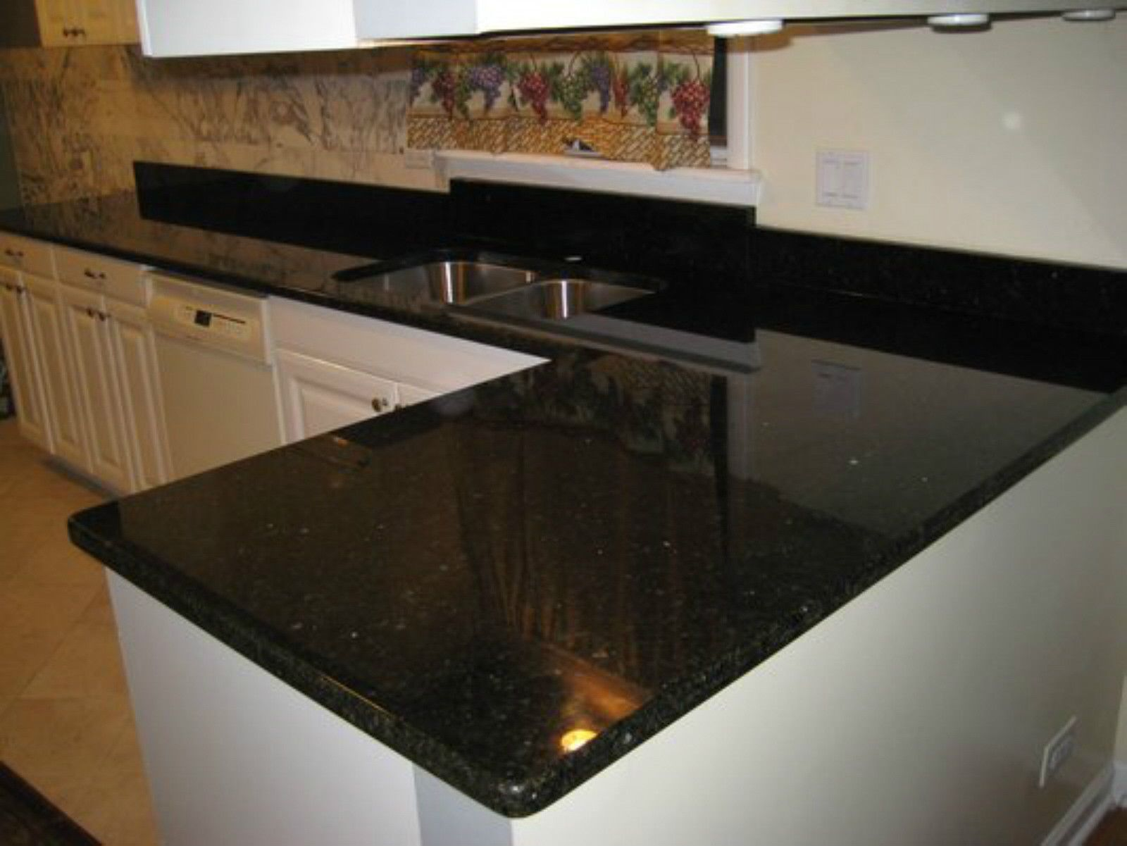 Diy Peel N Stick Black Countertop Cover Film Contact Paper Overlay Sicker 12ft Countertops Countertop Covers Faux Granite