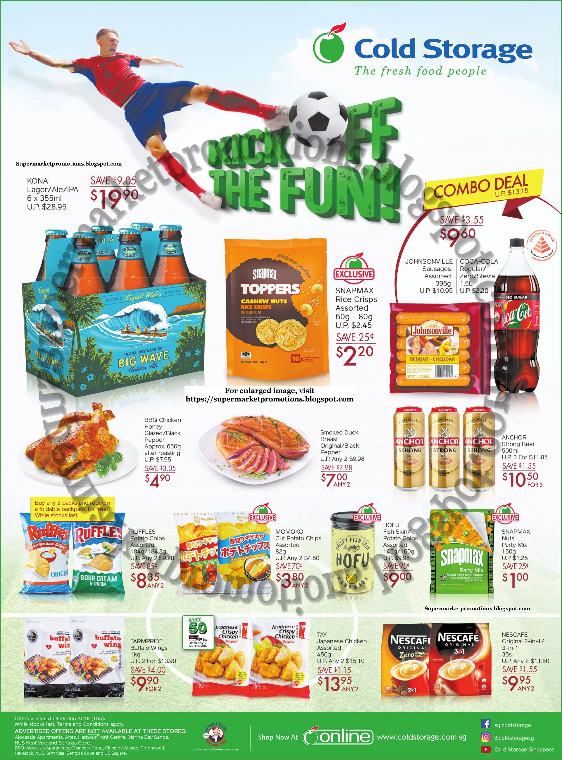 Cold Storage supermarket promotion Cold Storage Kick Off Promotion