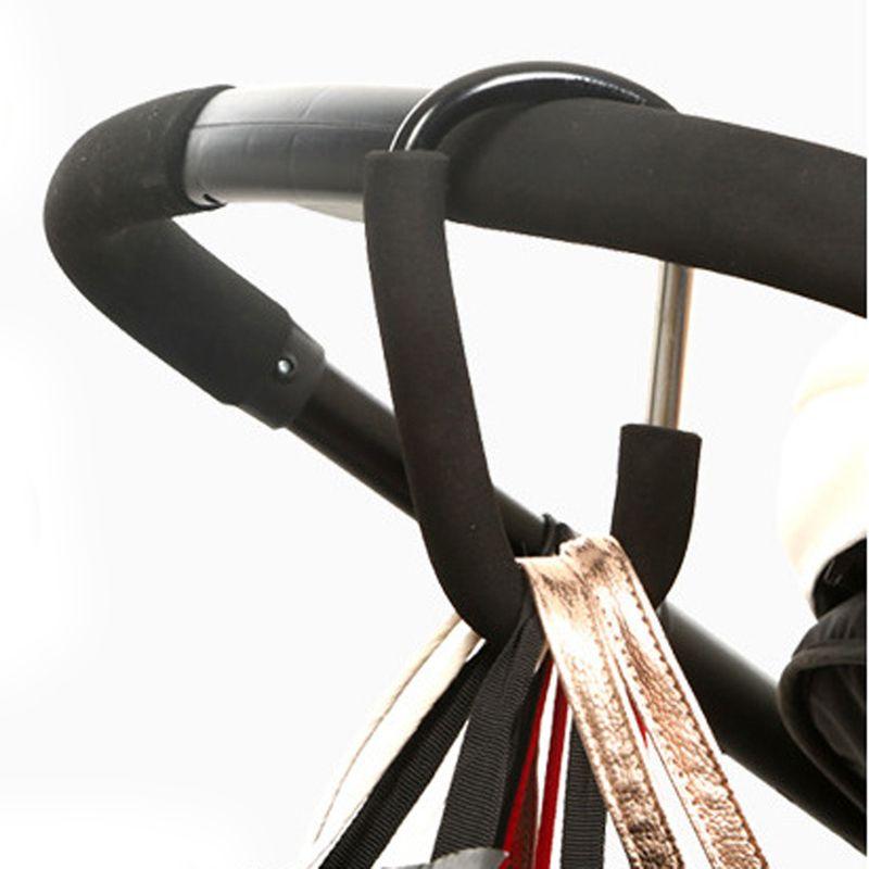 1 Stks Aluminium Zwart Pram Haak Kinderwagen Haken Winkelen Tas Haak