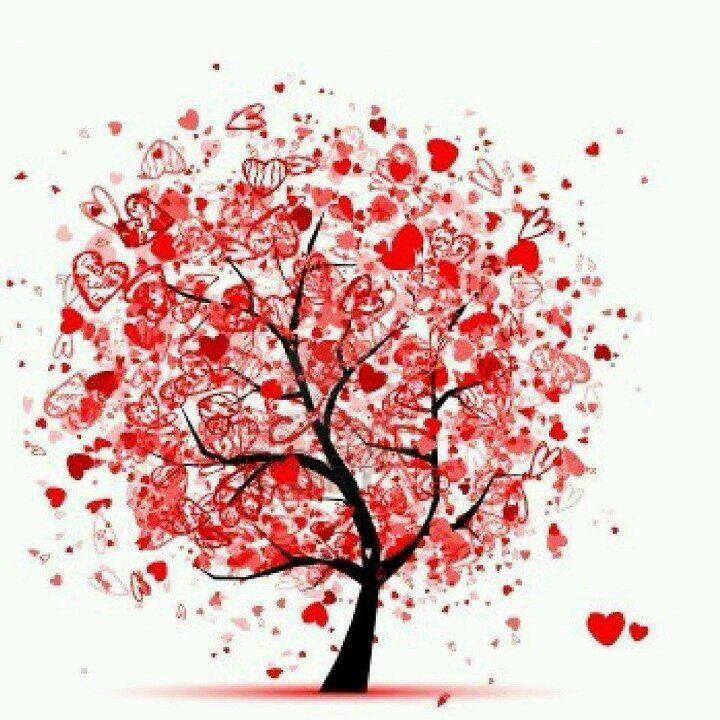 Great Valentine\'s craft- could draw the tree the stamp, layer and ...