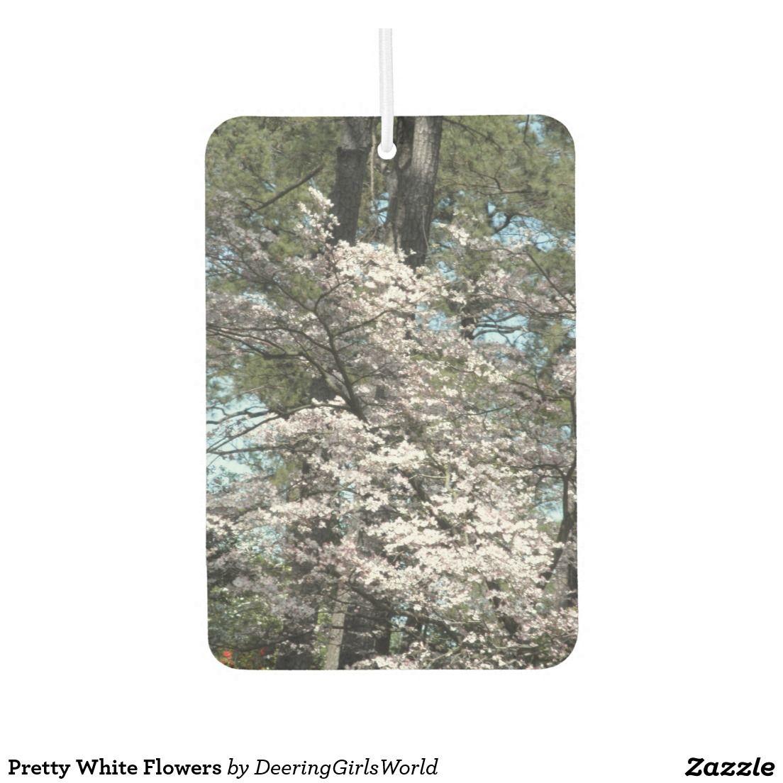 Pretty White Flowers Air Freshener