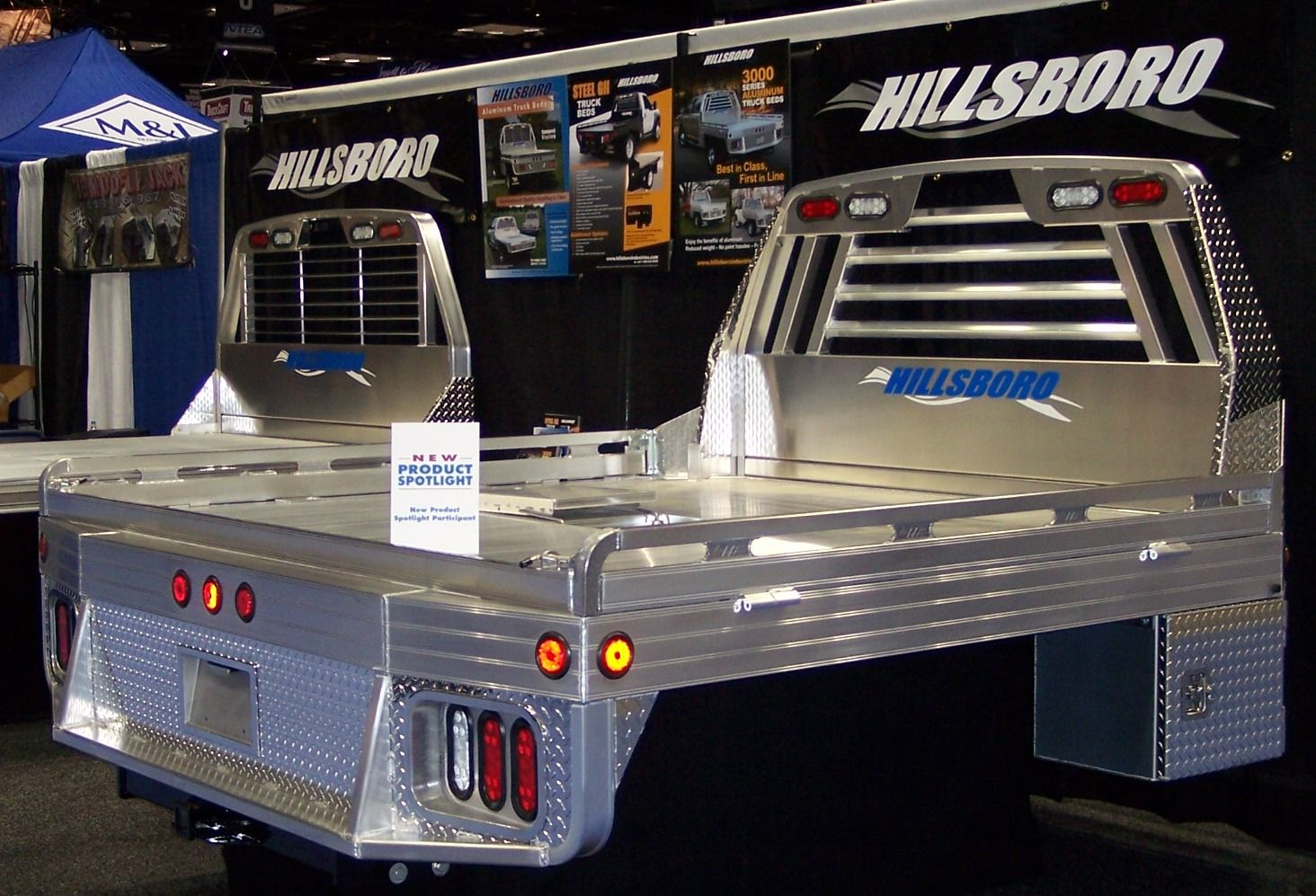 Shown with Optional Tailboard Aluminum truck beds, Truck