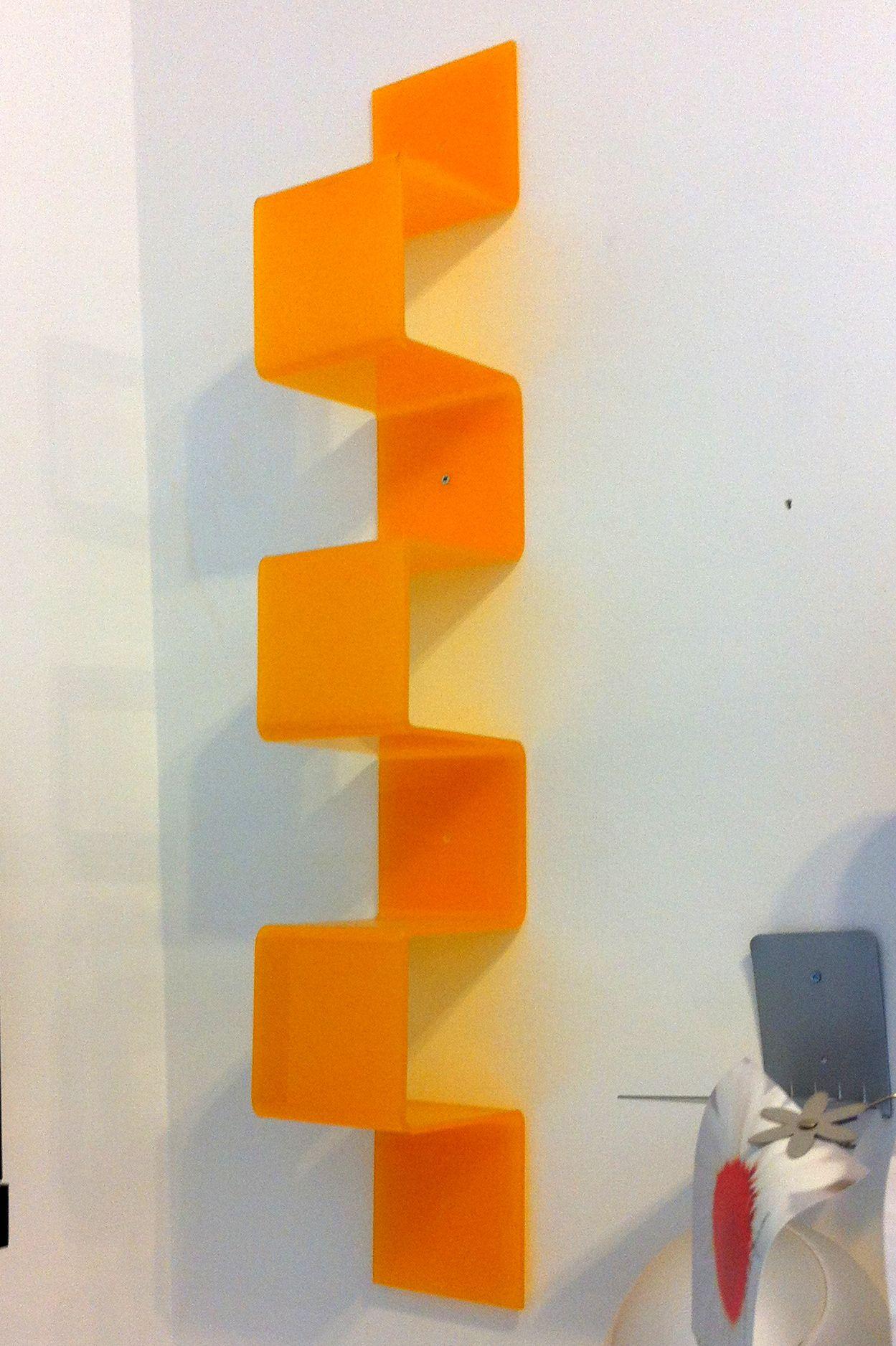 Mensola libreria in Plexiglass arancio Outlet | Acrylic ...
