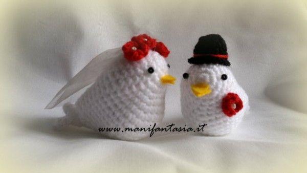 Amigurumi Uncinetto Tutorial Italiano : Uccellini uncinetto schema italiano sposa e comunione