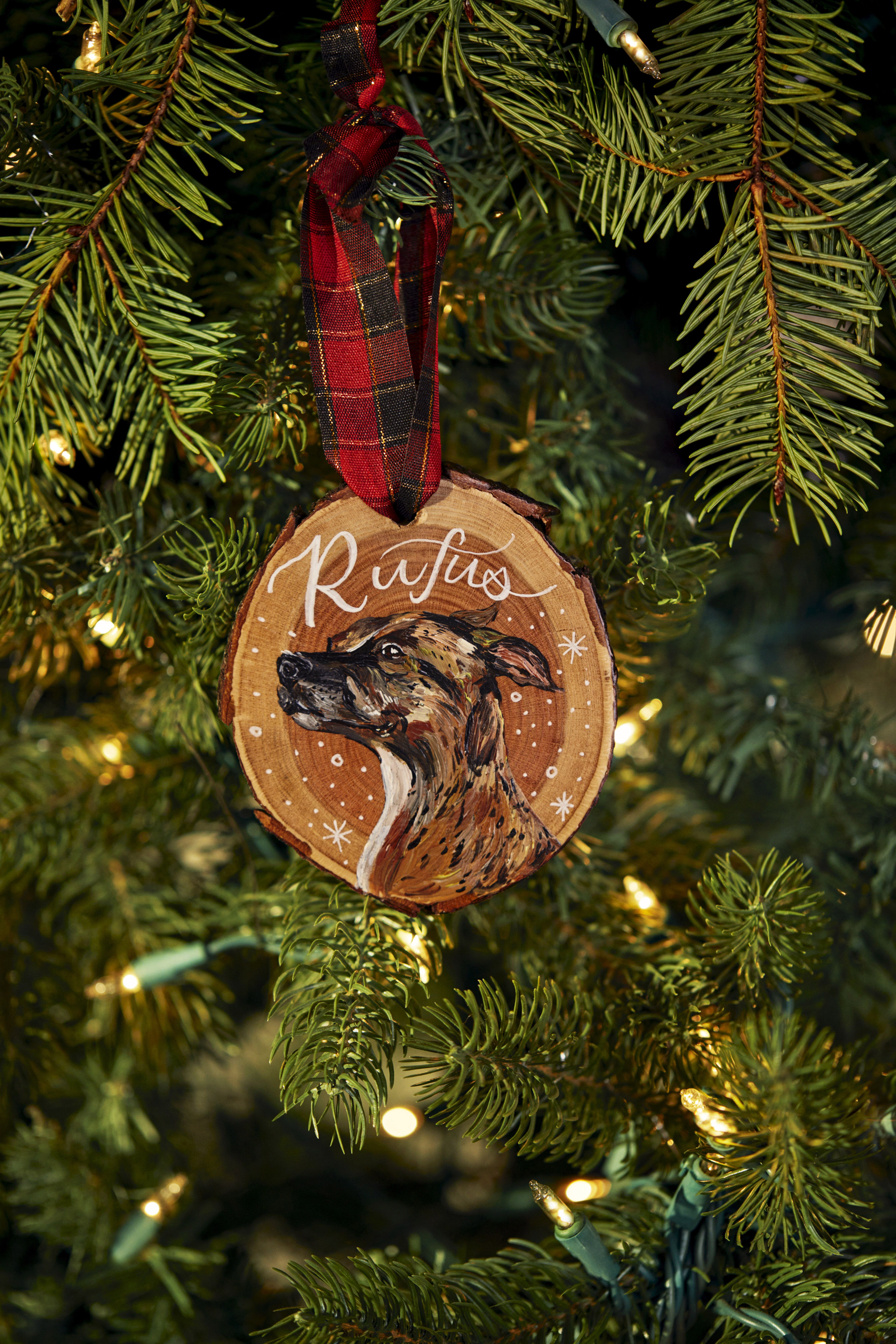 If it can be personalized, there's a 99% chance we're getting it for our pet. Beautiful custom wood Christmas ornament features a hand-drawn illustration of your pet. Find more personalized gifts for all kinds of people and animals on Etsy.