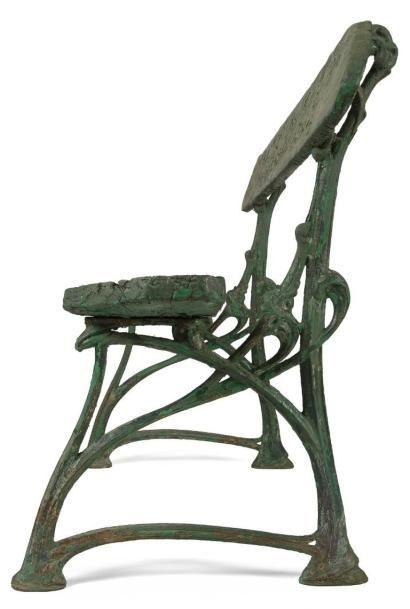 hector guimard 1867 1942 go mod le cr vers 1905 deux pi tements de banc de jardin en fonte. Black Bedroom Furniture Sets. Home Design Ideas