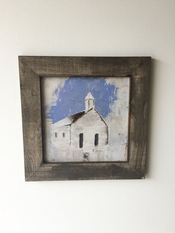 Fine Art Print, Abstract Print, Country Church Print, Framed Print, Rustic framed print