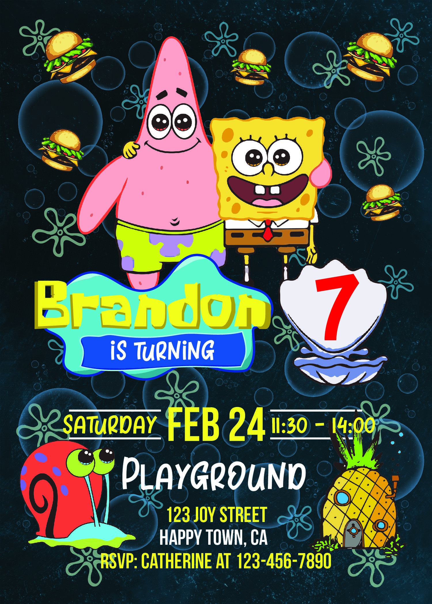 c07ae7335959a Spongebob Party Invitations - Spongebob Party Supplies - www.bdayprints.com