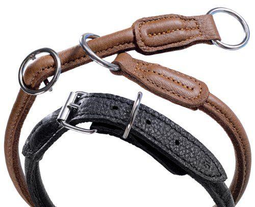 Nobby 7877623 Würger Hundehalsband Elchleder L 50 cm, Ø