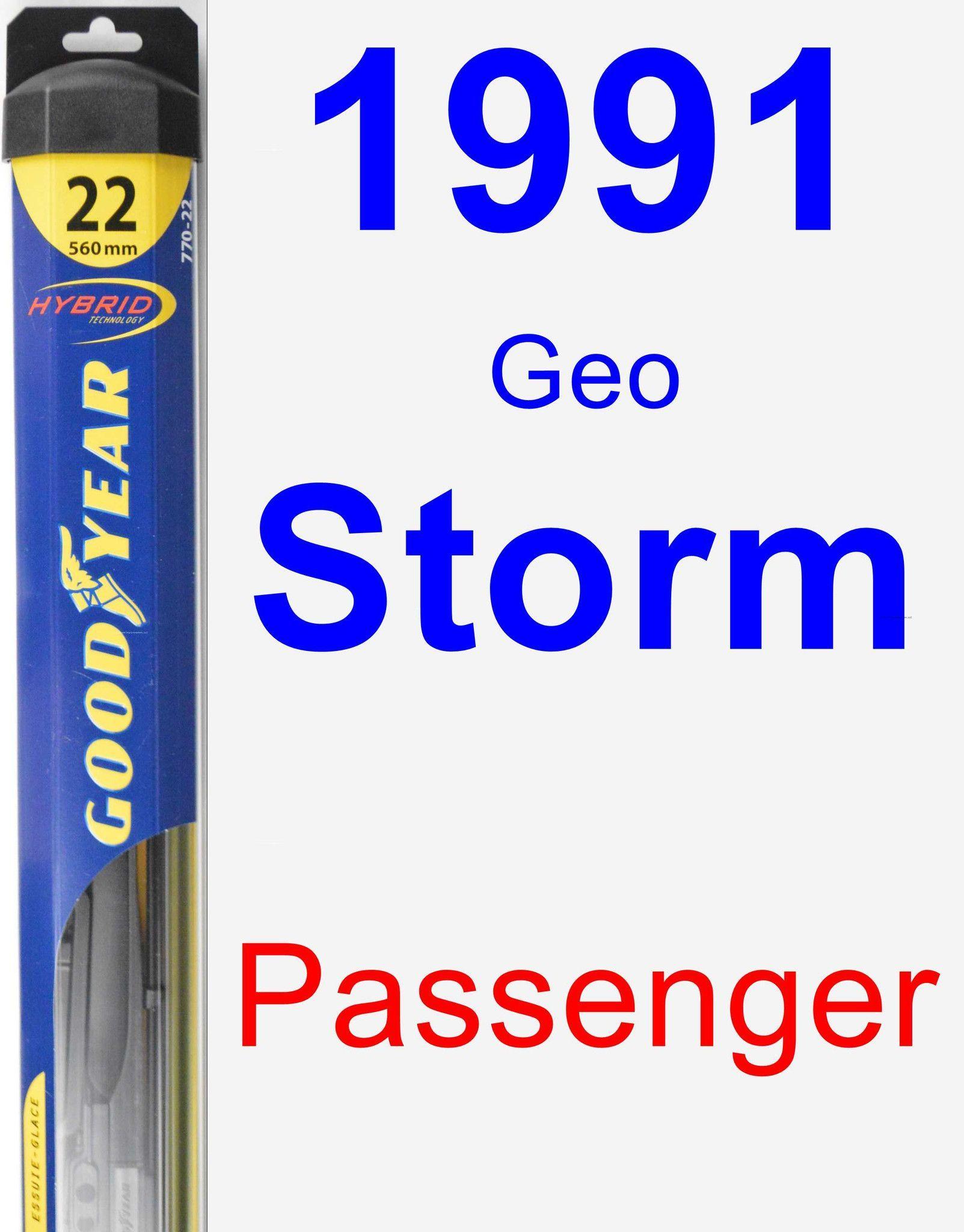 Passenger Wiper Blade for 1991 Geo Storm - Hybrid