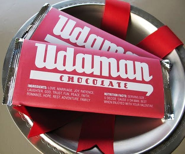 Homemade christmas gifts men will actually love homemade christmas udaman chocolate wrappers homemade christmas gifts men will actually love solutioingenieria Gallery