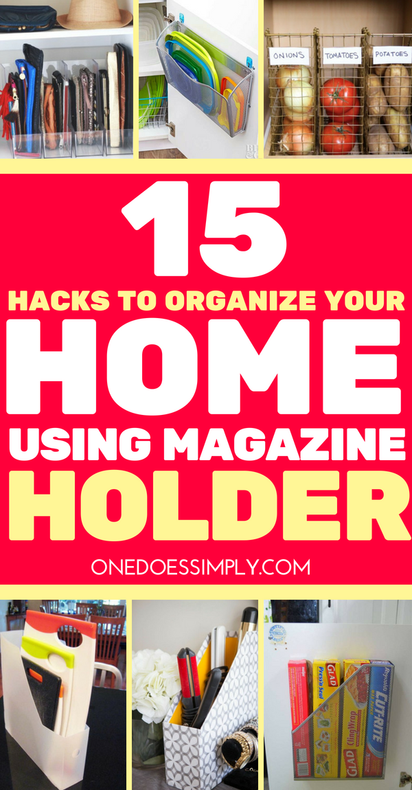 15 Home Organization Hacks Using Magazine Holder is part of Organization Hacks DIY - Magazine holder was invented to organize magazine, that's for sure  But nowadays this simple thing is not only perfect for magazine organization  In fact, you can actually organize nearly every room in your home just using a pack of magazine holders
