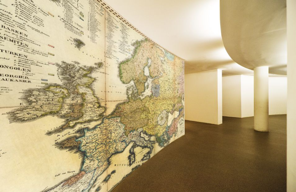 Incredible wall map mural printed on an HP printer. Find more on ...