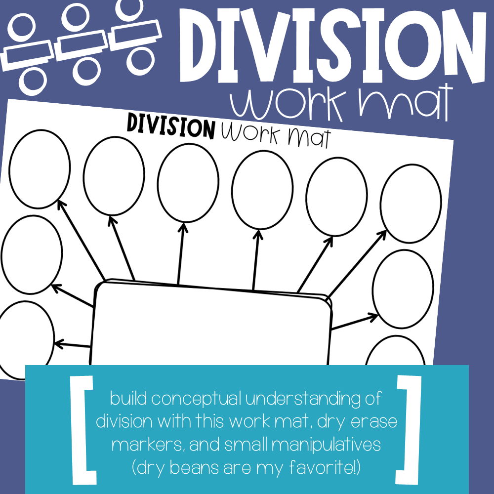 Division Work Mat Build Concrete Conceptual Understanding Of Division With Manipulatives Conceptual Understanding Division 3rd Grade Math [ 1000 x 1000 Pixel ]