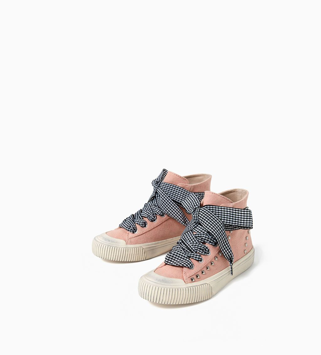 GINGHAM HIGH TOP SNEAKERS - NEW IN