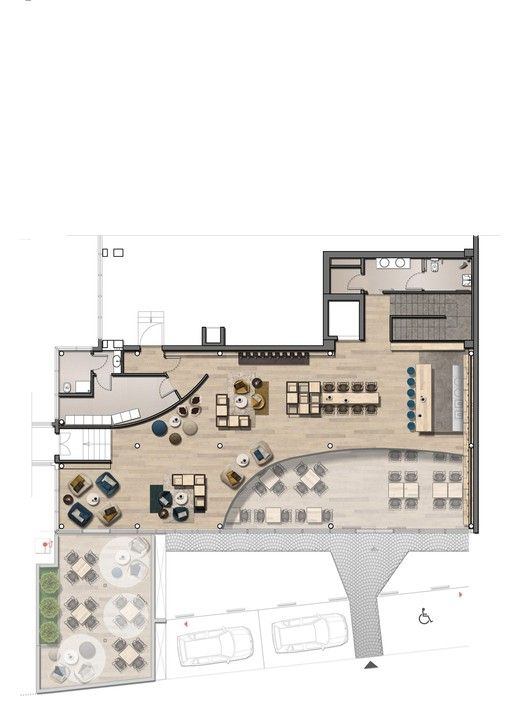 Caffe Vero Progettocmr Restaurant Plan Hotel Floor Plan