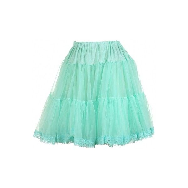 Mint Layered Petticoat Skirt Found On Polyvore