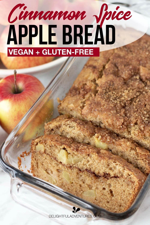 Vegan Gluten Free Apple Bread Recipe In 2020 Apple Recipes Vegan Gluten Free Recipes Apple Bread