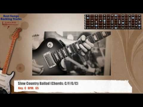 Slow Country Ballad in C Guitar Backing Track - YouTube