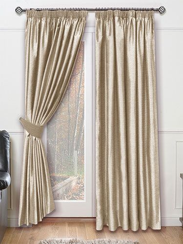 Dupioni Faux Silk Flax Curtains Champagne Bedroom Mink