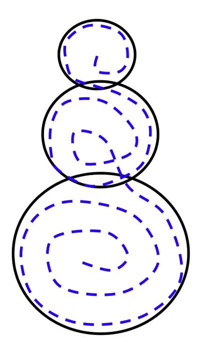 diagram showing how to make a paper chain snowman