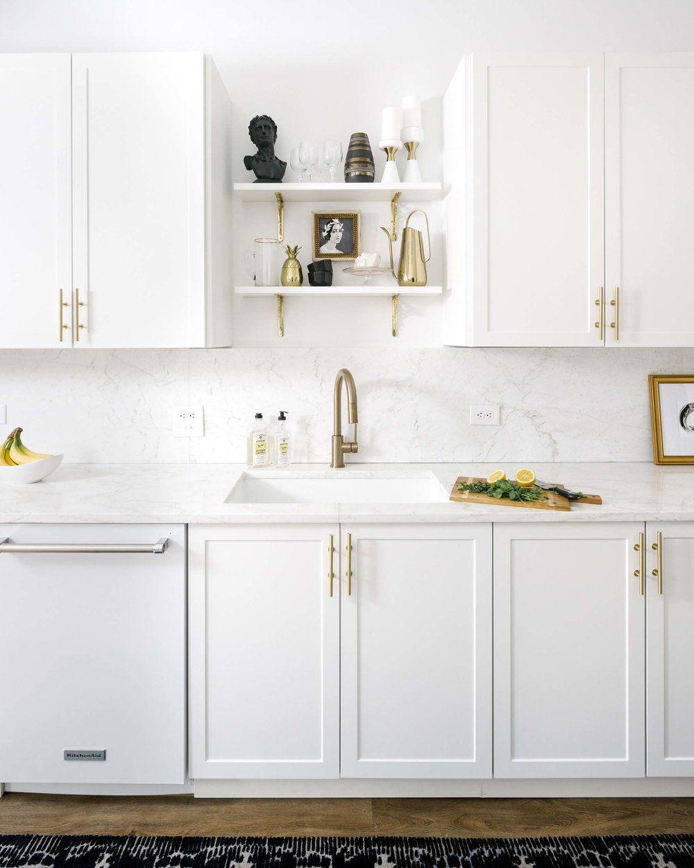 A Denver Designer\'s Sophisticated, Modern Apartment | White marble ...