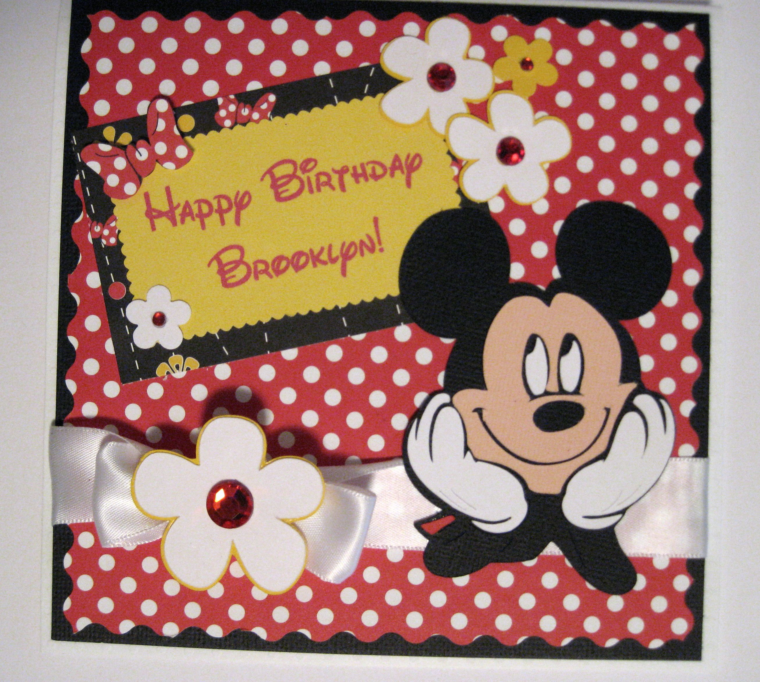 Mickey Mouse Birthday Card - Scrapbook.com | Scrapbooking ...