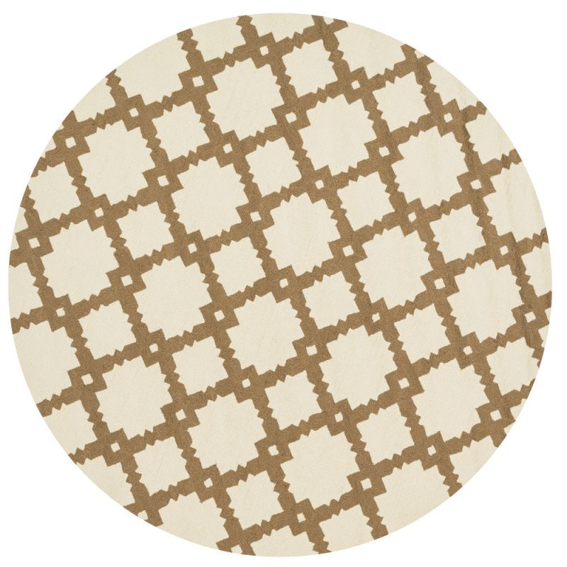 Loloi Rugs Venice Beach 14IVTA Indoor / Outdoor Hand Hooked Polypropylene Contem 8 x 8 Round Home Decor Rugs Rugs