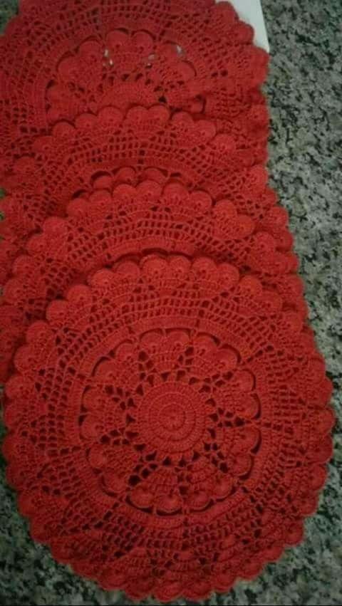 Faça e venda Lindos Sousplat em crochê - Jogos americanos | Crochet ...