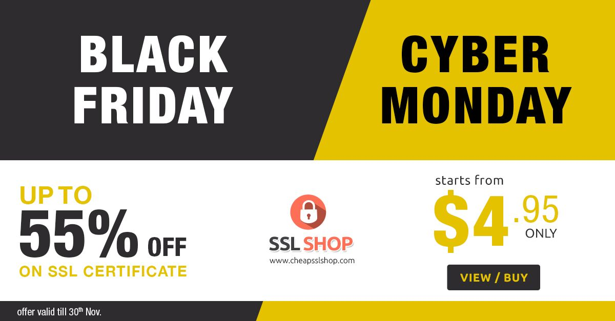 Cheap Ssl Shops Unbelievable Blackfriday And Cybermonday Sale Up