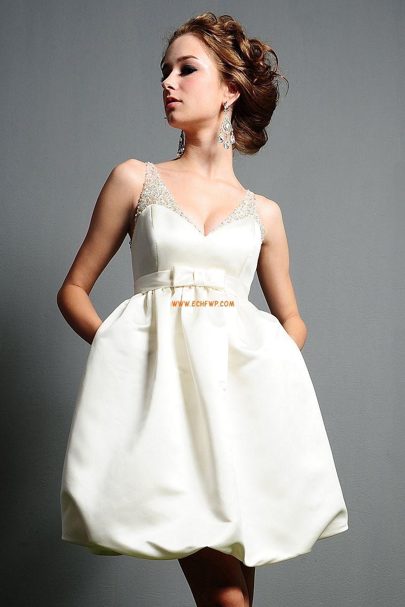 Kurz/Mini Sommer Schleife Brautkleider 2014 | short wedding dresses ...