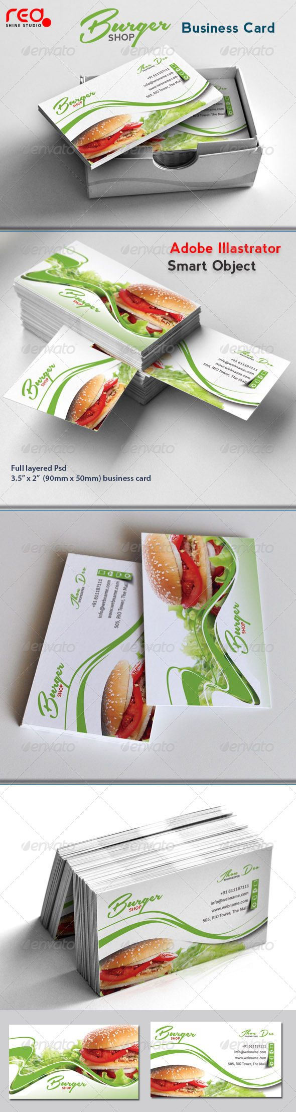 Fast Food Business Card | Business cards, Business and Card templates
