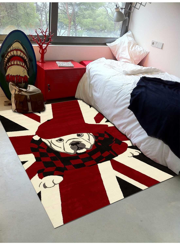 tapis london dog rouge tapis enfant