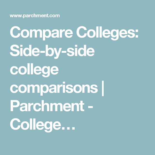 colleges side by side