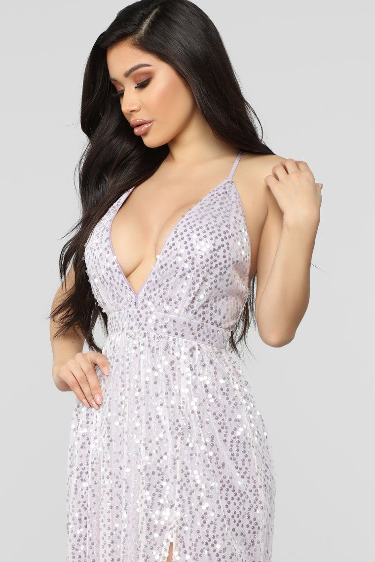 Magical Nights Sequin Dress - Lavender in 10