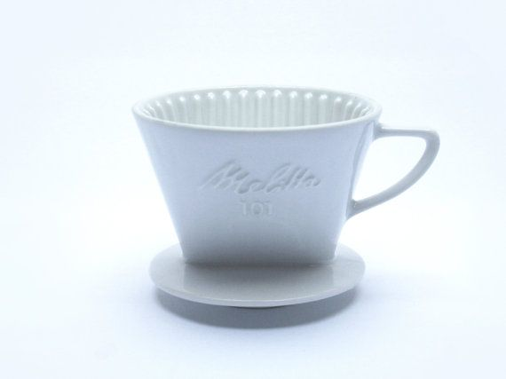 MELITTA Coffee Filter Number White Ceramic Holes Model - Porte filtre café