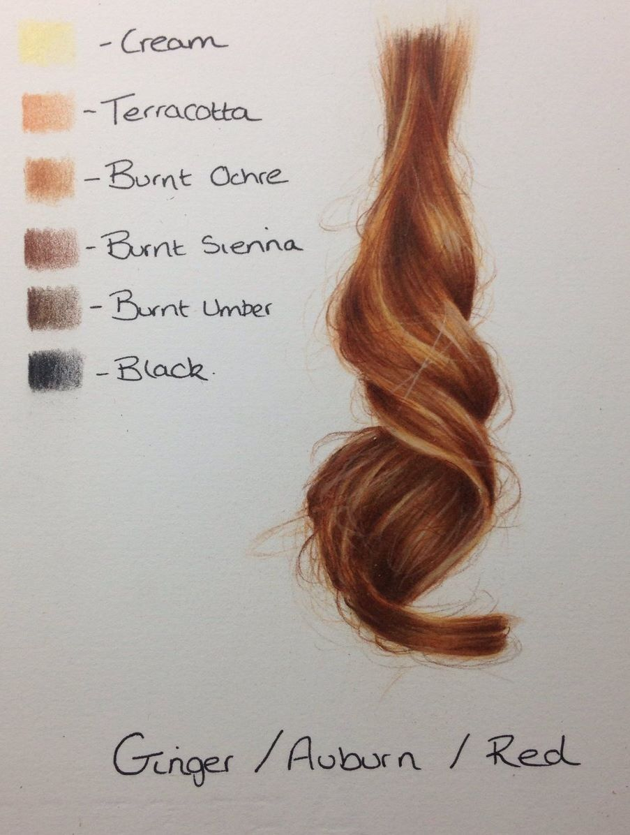How To Achieve Hair Colors Auburn Red How To Draw Hair Color Pencil Art Colored Pencil Techniques