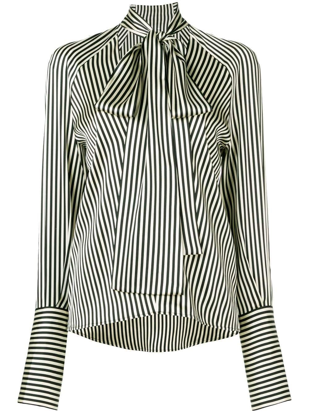 ba7224b630a42b Petar Petrov striped blouse - Black in 2019   Products   Blouse ...