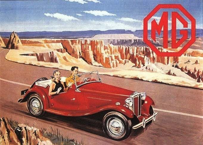 MG TC Sports car advert