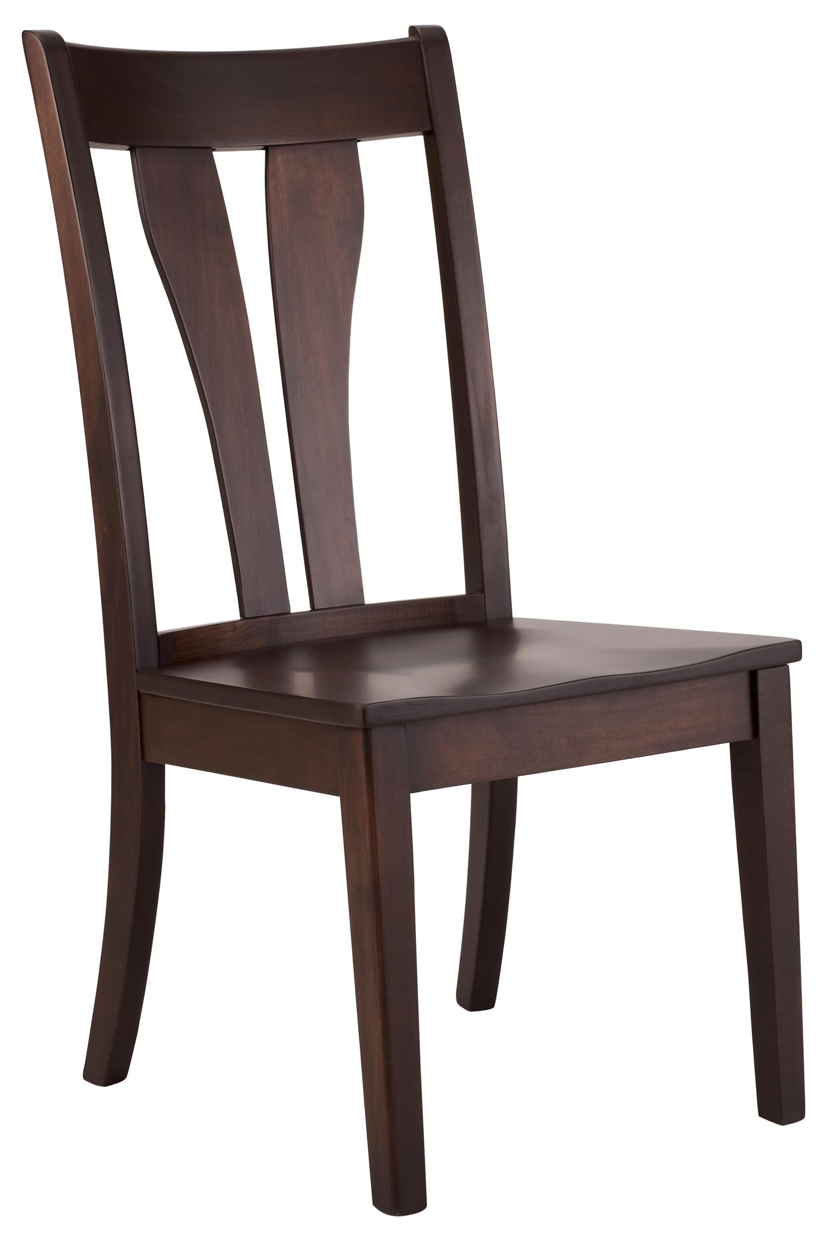 The Covina Arch Side Chair Has A Solid Maple Arched Slat Back With