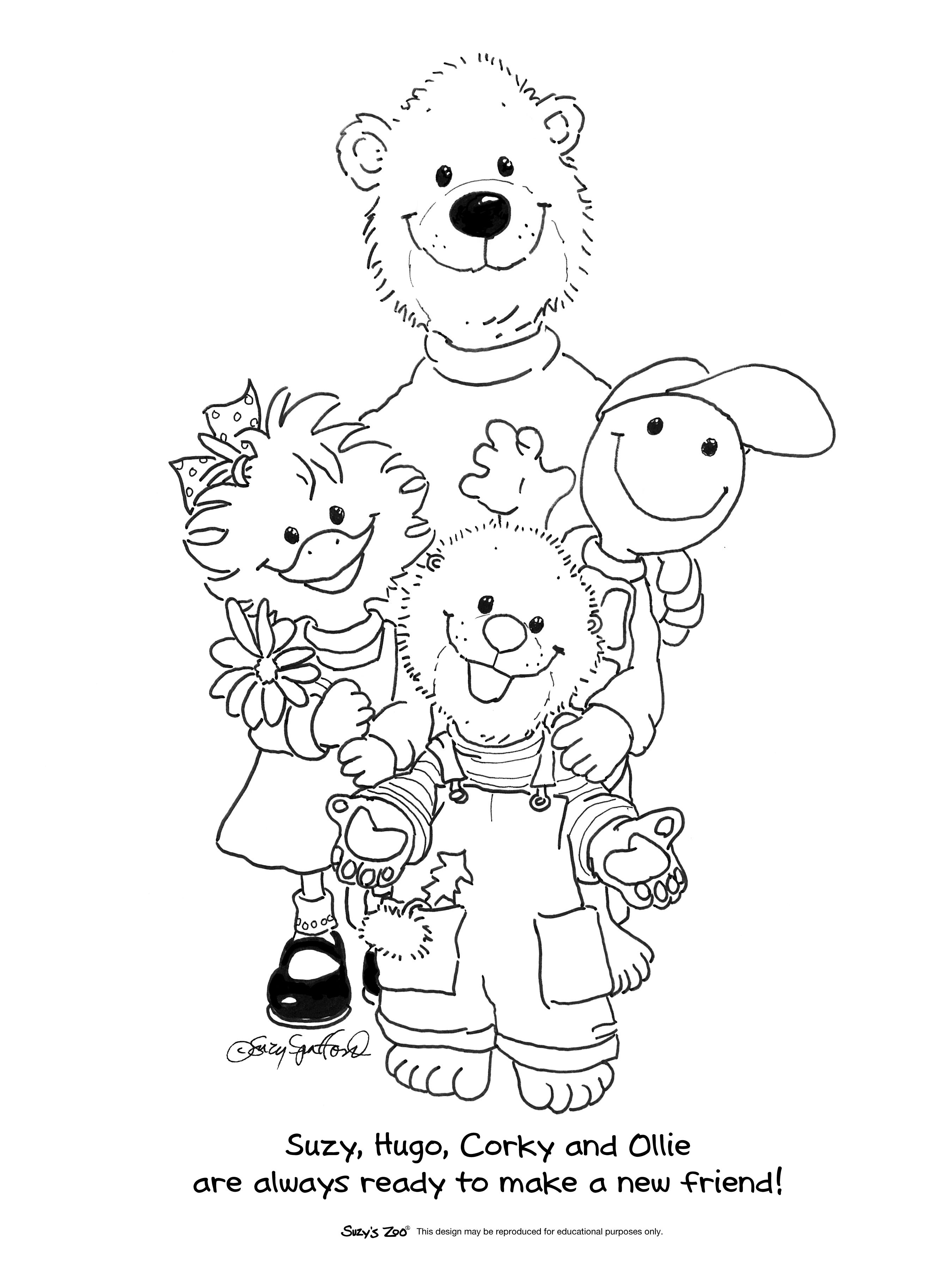 Good Friends Jpg 2 700 3 600 Pixels Zoo Animal Coloring Pages Animal Coloring Pages Coloring Pages