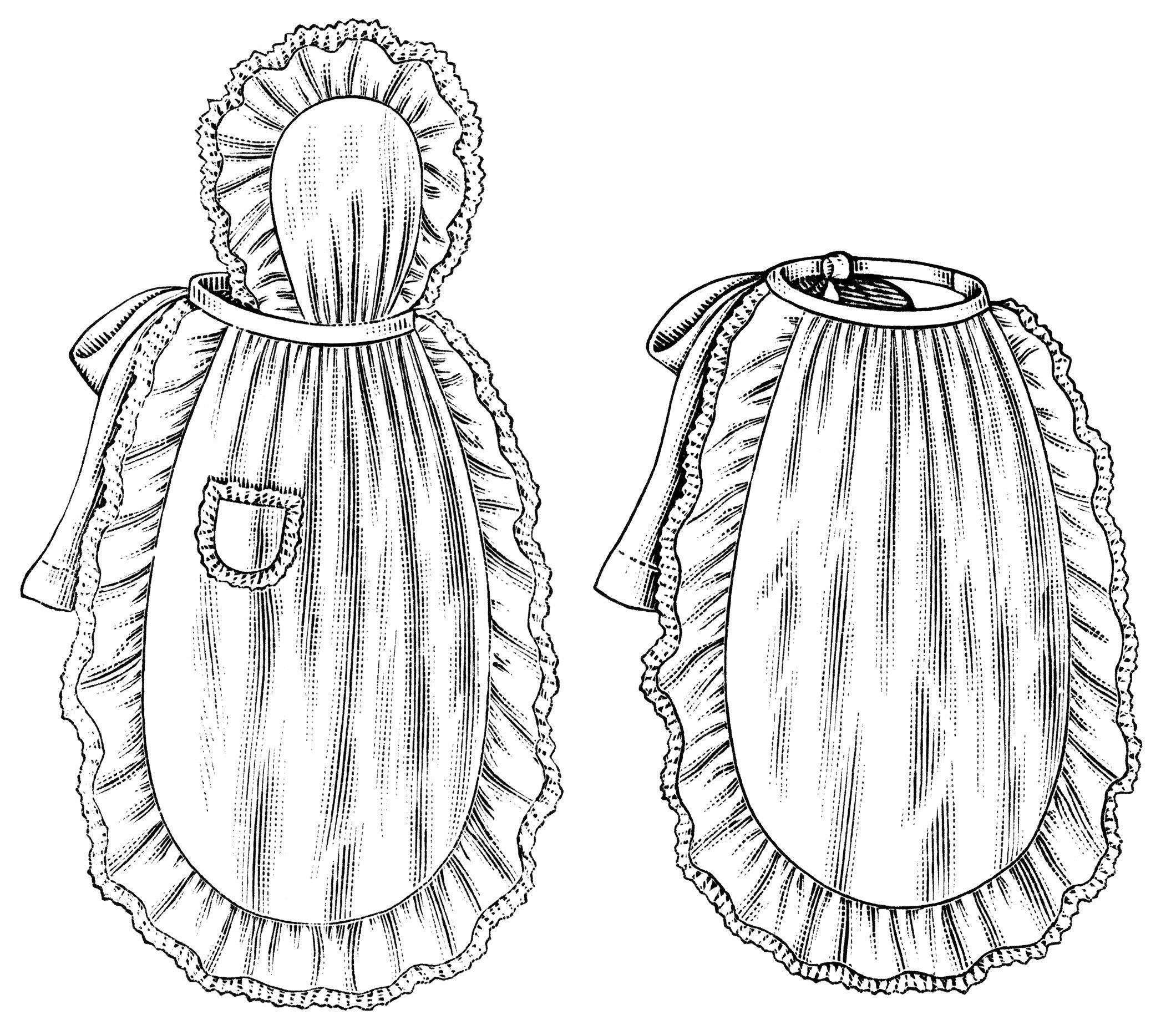 White apron ladies - Black And White Clip Art Vintage Apron Clipart Ladies Apron Illustration Old