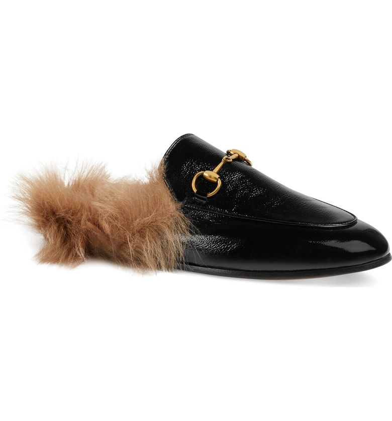 ae6a5083f4d Free shipping and returns on Gucci  Princetown  Genuine Shearling Loafer  Mule (Women)