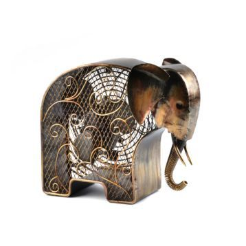 Metal Elephant Figurine Fan Elephant Figurines Elephant Figurines