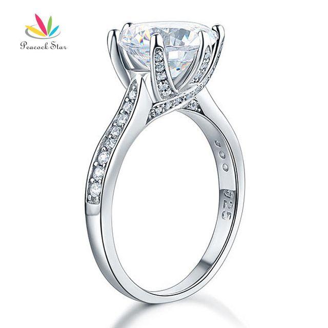 Peacock Star 925 Sterling Silver Luxury Wedding Anniversary