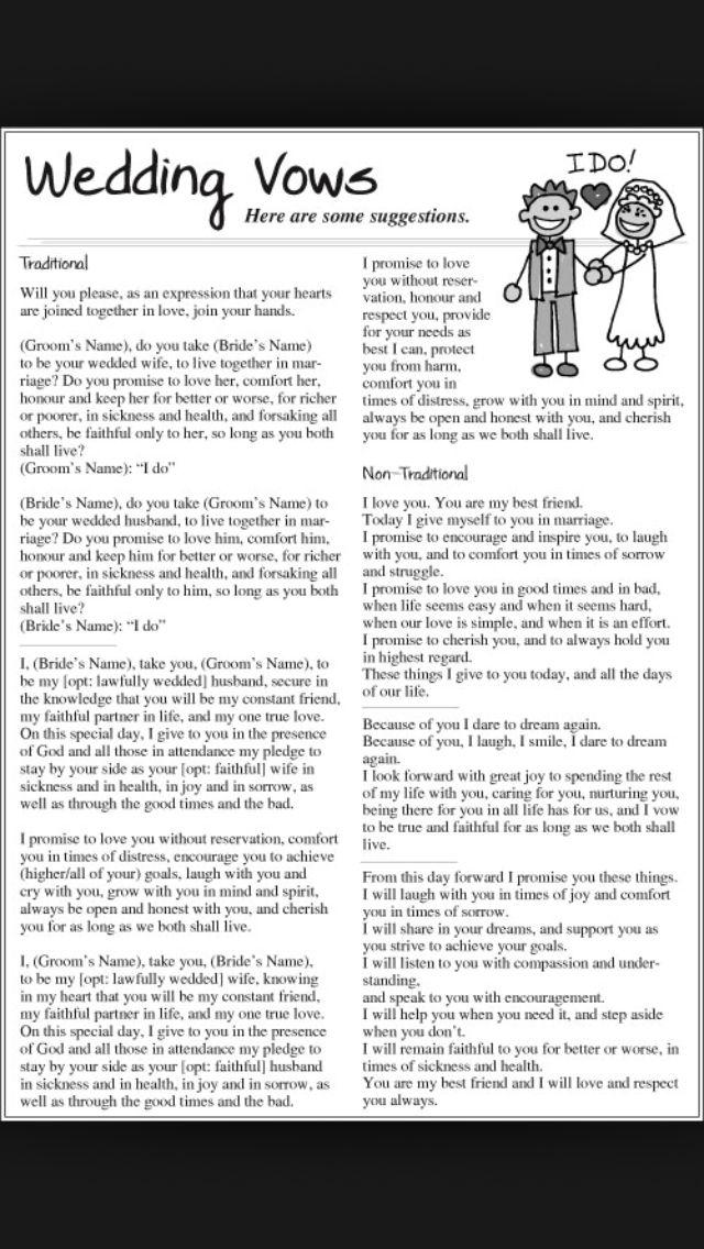 Pin by Bridget Murphy on Wedding Wedding vows examples
