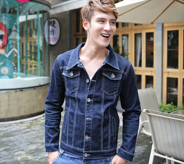 $60.35 -- Mens Denim Jacket Individual Men Fashion Jackets Fitted Skull Pattern Long Sleeve Cross Pattern Fitted Pockets Denim Top Lapel Short Punk  Discount Online Shopping