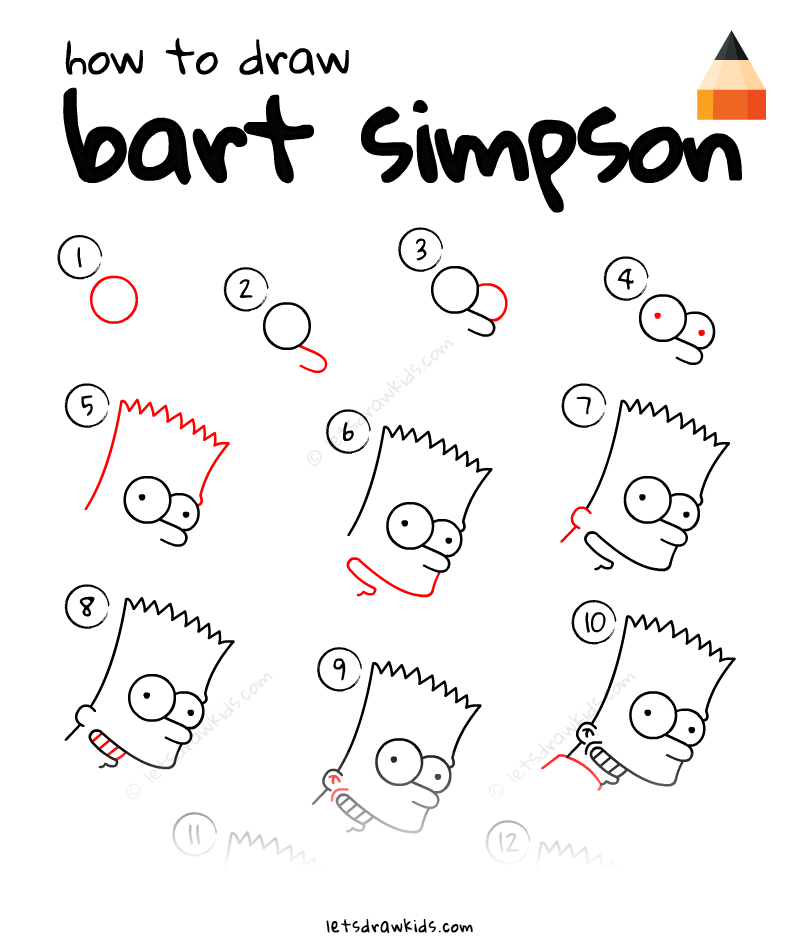 Learn How To Draw Bart Simpson With This Step By Step Tutorial And